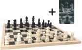 Schaakset XL - Schaakspel  - Schaken - Schaakbord Met Schaakstukken - Gratis Schaakboekje Met Openingszetten -Hout - 40cm bij 40 cm