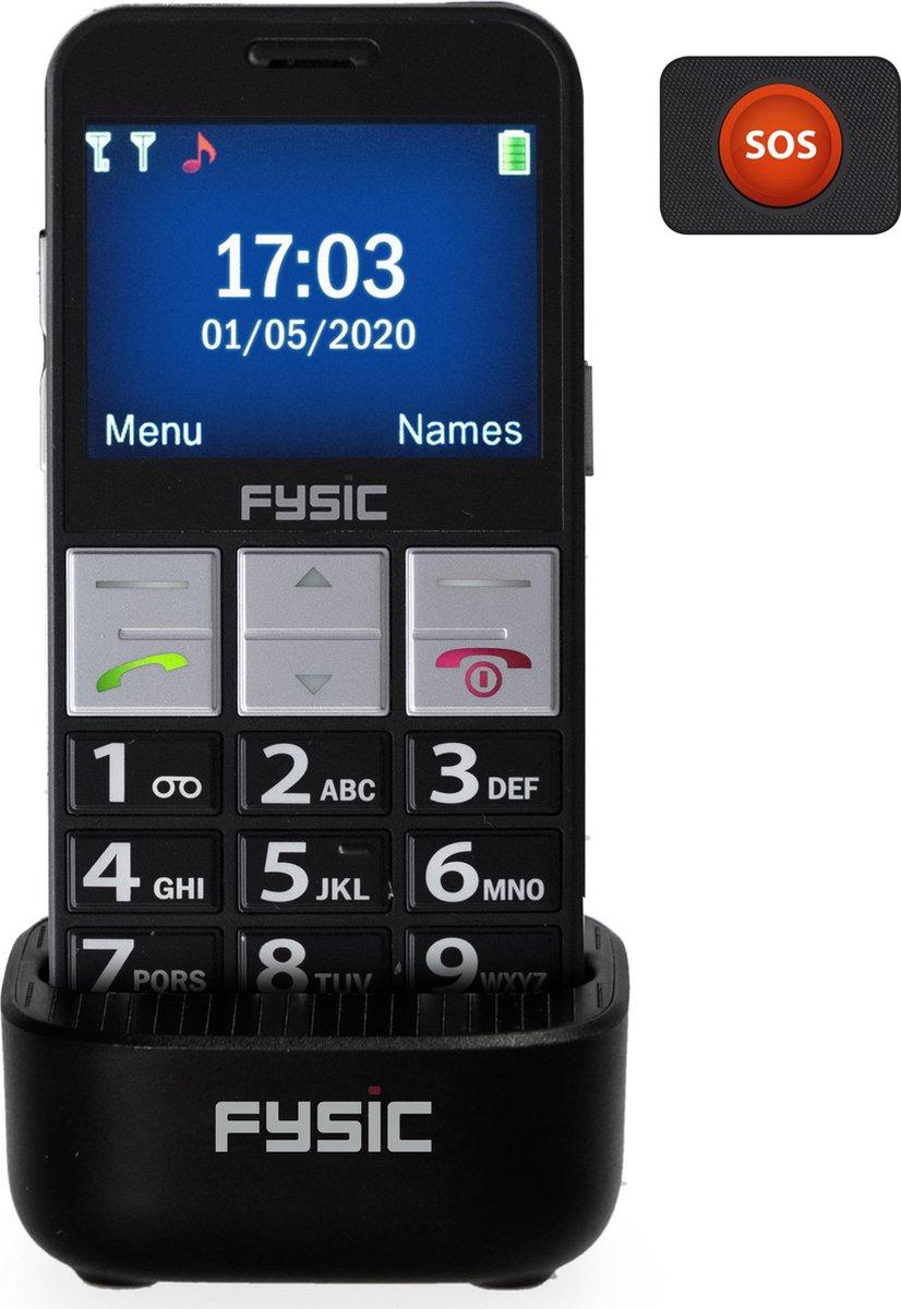 Fysic FM-7810 Senioren mobiele telefoon – Eenvoudige bedienbaar – Met camera – Zwart