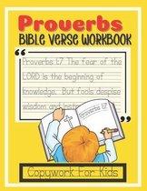Proverbs Bible Verse Workbook Copywork for Kids