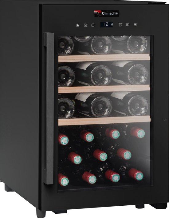 Koelkast: Climadiff CS31B1 - Wijnklimaatkast - 31 flessen, van het merk Climadiff