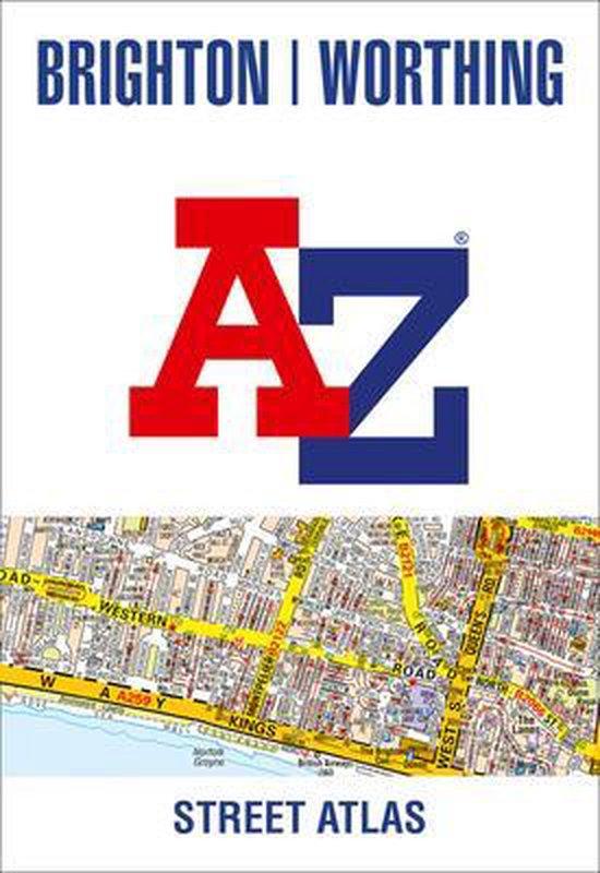 Boek cover Brighton & Worthing A-Z Street Atlas van A-Z Maps (Paperback)