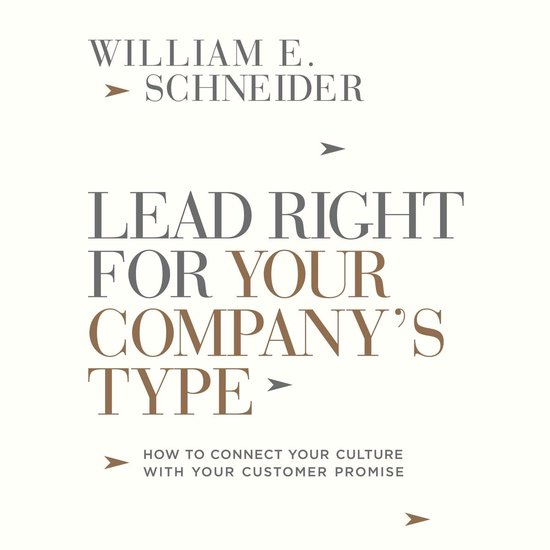 Boek cover Lead Right for Your Companys Type van William E Schneider (Onbekend)
