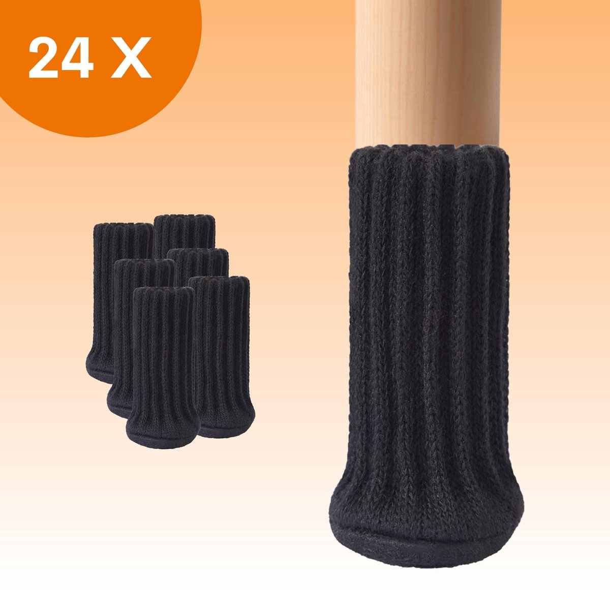 FLOOQ - Stoelpoot Doppen   met Anti-Kras Vilt   25-50mm   Stoelpoot beschermers - Vloerbescherming -