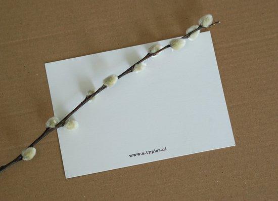 Steuntje in de rug-kaarten, 5 wenskaarten met envelop (beterschap, sterkte)