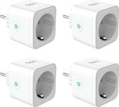 LUSQ® 4 stuks - Slimme Stekker - Smart Plug - Google Home & Amazon Alexa - Tijdschakelaar & Energiemeter via Smartphone App - Smart Home -
