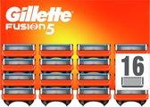 Gillette Fusion5 Scheermesjes - 16 Navulmesjes - Brievenbusverpakking - Oranje