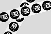 NFC Tags ZWART met NFC Logo 10 stuks