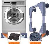 Handify® Wasmachine verhoger - Verhoging voor Wasmachine, Vaatwasser, Koelkast, Vriezer en Droger - Inclusief 4 Dempers - Verstelbaar in hoogte en breedte - Duurzaam RVS - ABS - Maximaal 300 kg - 45/60 X 50/62 cm
