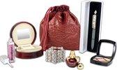 Dames cadeaupakket in cadeau verpakking, kerst pakket, moederdag, sinterklaas, verjaardags cadeau, make-up, parfum, sieraden