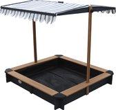 AXI Lily Zandbak met verstelbaar dak Antraciet/Bruin - FSC Hout - Zitplaatsen rond de zandbak