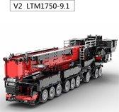 V2 LIEBHERR LTM 1750 - 9.1 Mamoet EDITION Telekraan Hijskraan VERSION 2 - Technisch Bouwpakket van Toy Brick Lighting® - 7768 Bouwstenen