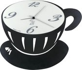 Wandklok Italiaans Design Koffie zwart