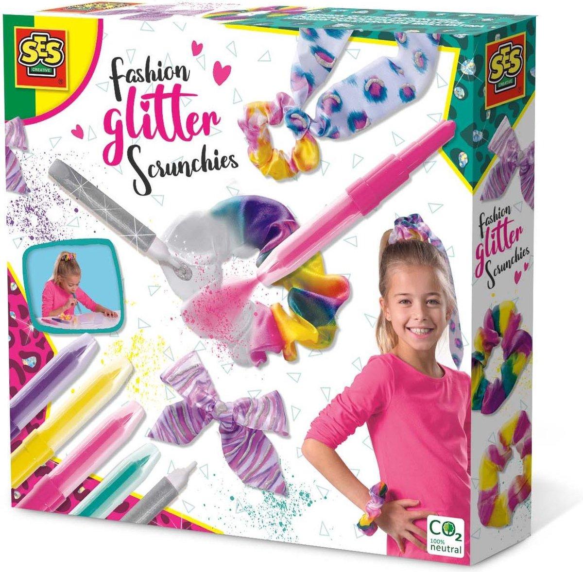 Fashion glitter scrunchies