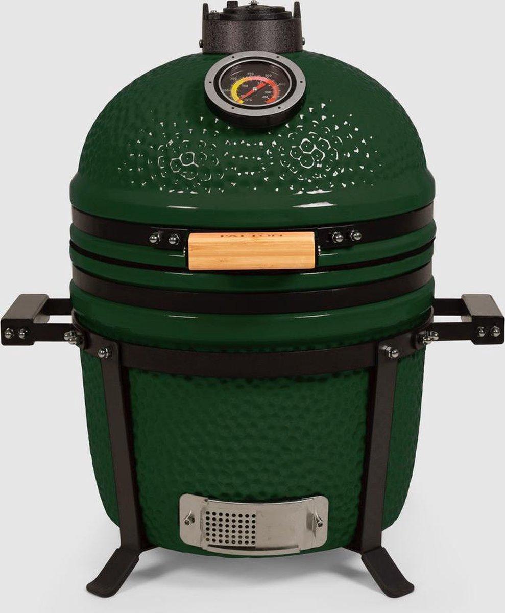 "Patton - Kamado 15"" - Tafel model - Keramische barbecue - Premium Green - Medium - Compleet - Groen"
