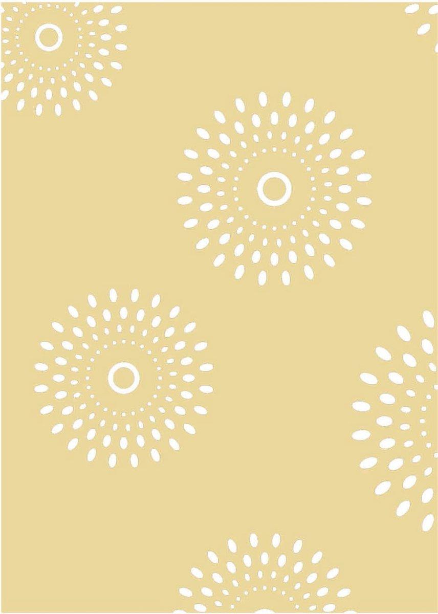 Notitieboek - A4 - Batik - Stijl - Beige - Gelijnd - Lijntjes - Zachte lijntjes - Softcover - Elastiek - Cadeau -Werk - Studie - Dagboek