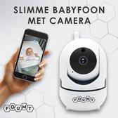 Foumt Babyfoon BF1 - Babyfoon met camera - 1080P HD Camera - Babyfoon met camera en app - Baby - Wit