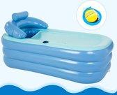 Opblaasbaar Bad met Luchtpomp - Ligbad - Opblaasbaar Ligbad - Bath Bucket - Spa Bad - Mobiel Bad - Opblaasbare Badkuip - Blauw Ligbad - IJsbad - Douchebad - Relax Bad - Buitenbad - Wellness Bad - Ontspanningsbad