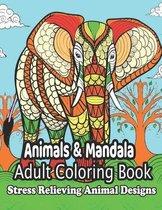 Animals & Mandala Adult Coloring Book