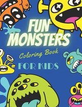 Fun Monsters Coloring Book for Kids