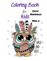 Coloring Books For Kids Cute Animals Vol.2
