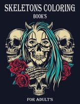 Skeletons Coloring Book's For Adult's