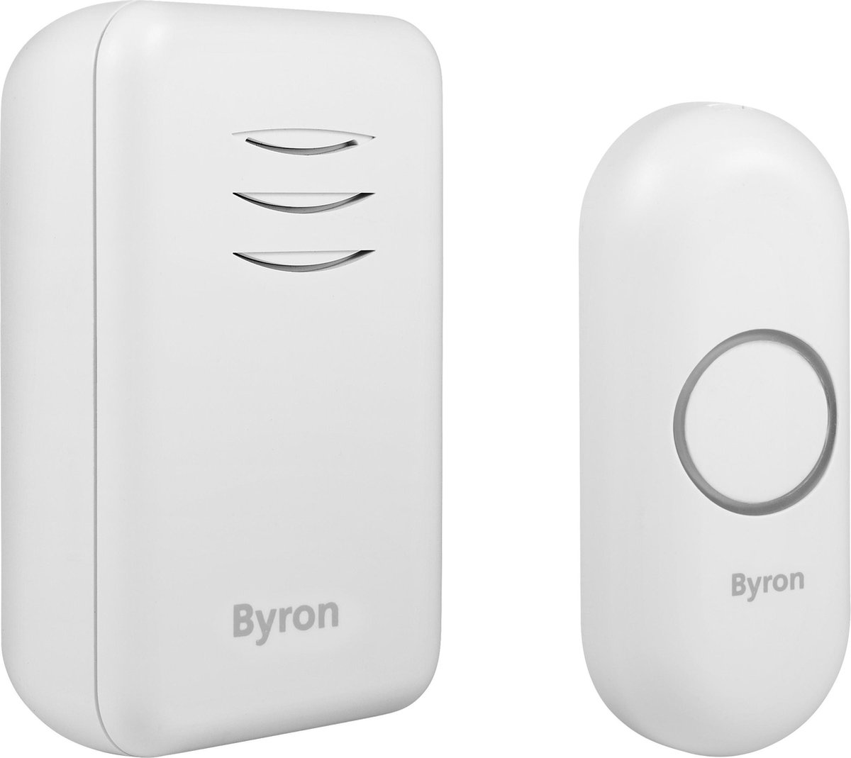 Byron gong - type DBY-22311 - port - draadloos - 150 m - wit