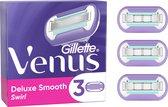 Gillette Venus Deluxe Smooth Swirl Scheermesjes Voor Vrouwen - 3 Navulmesjes