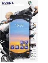 Dooky Telefoonhouder Smartphone Telefoon houder 360* Rotatie Universeel Kinderwagen Fiets Zwart