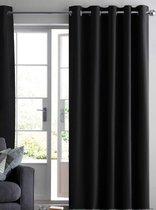 Made4Home® - Gordijn | 1 stuk | Zwart | Kant en klaar gordijn | Luxe gordijn | Verduisterend | Met ringen | Isolerend | Geluiddempend | Polyester | 140 x 260 cm | Kwaliteitsvol | Machine wasbaar op 40°C