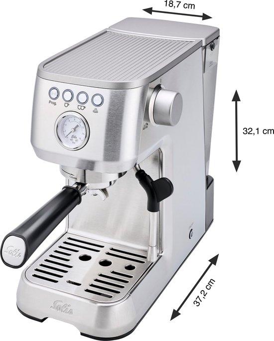 Solis Barista Perfetta Plus 1170 Espressomachine - Pistonmachine Koffiemachine met Bonen - RVS