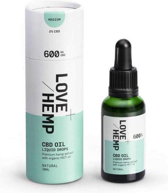 Love Hemp CBD olie 30ml - 600mg (2%) CBD