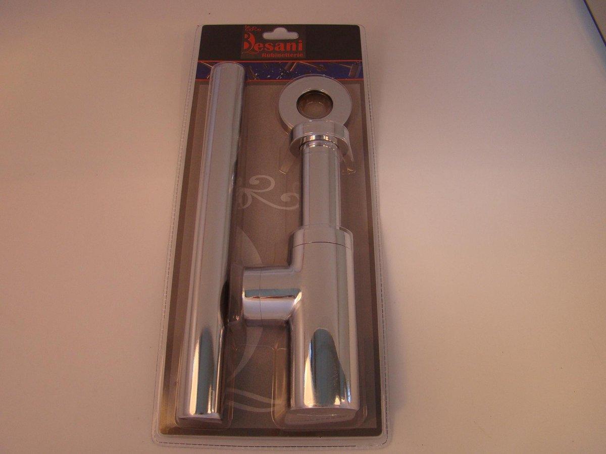 wan2inspire Plus bekersifon vierkant chroom   blisterverpakking of in luxe doos verkrijgbaar
