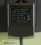 Voedingsadapter voor o.a. deurbel - transformator - 18V AC / 500mA