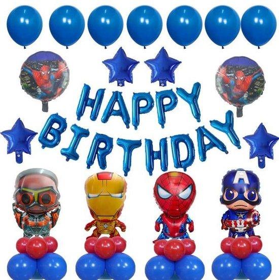 Superhelden Ballonnenset - Superheroes - Themafeest - Versiering - Kinderfeestje - Superman - Spiderman - Captain America - Iron man - Ant man