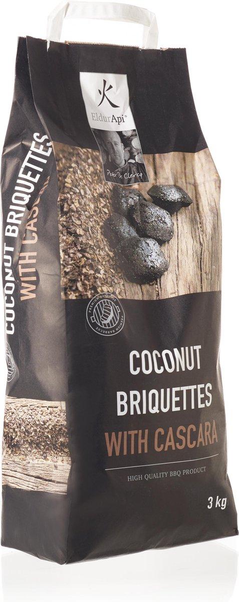 EldurApi | Coconut Briquettes Cascara | Kokosbriketten met Cascara | Houtskool