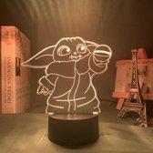 Hewec® Optische 3D illusie lamp Baby Yoda