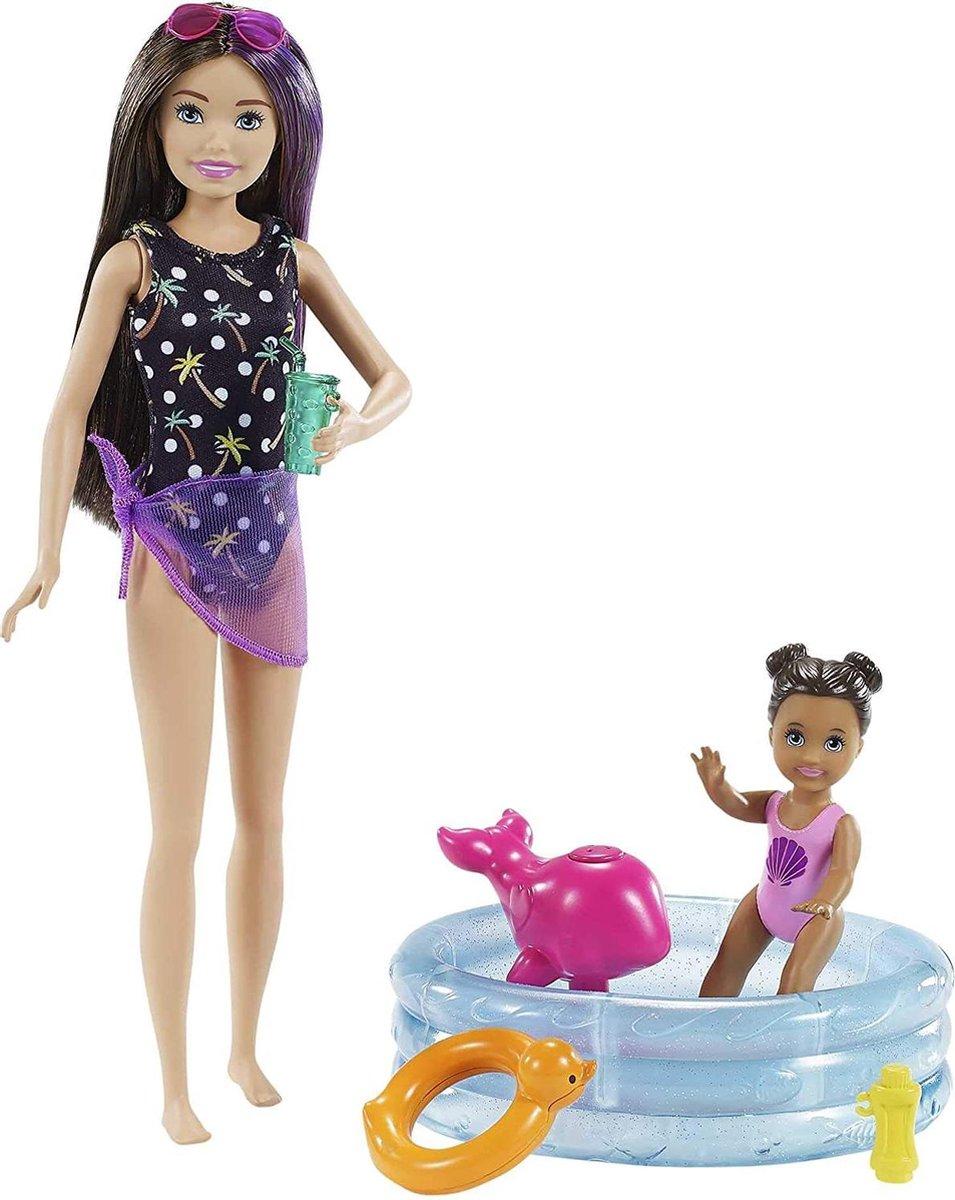 Barbie Babysitter - Peuter Zwembad - Speelset