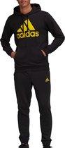 adidas adidas Essentials Trainingspak - Maat S  - Mannen - zwart - geel