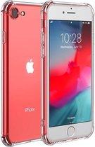 iPhone SE 2020 hoesje - iPhone 7 hoesje - iPhone 8 hoesje - doorzichtig transparant shockproof hoesje
