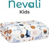 Nevali® Verzwaringsdeken Kind 3 KG - 7-laags design - Verzwaarde Deken - Weighted Blanket - Zware Deken - Beter Slapen & Minder Stress - 100 x 150 cm