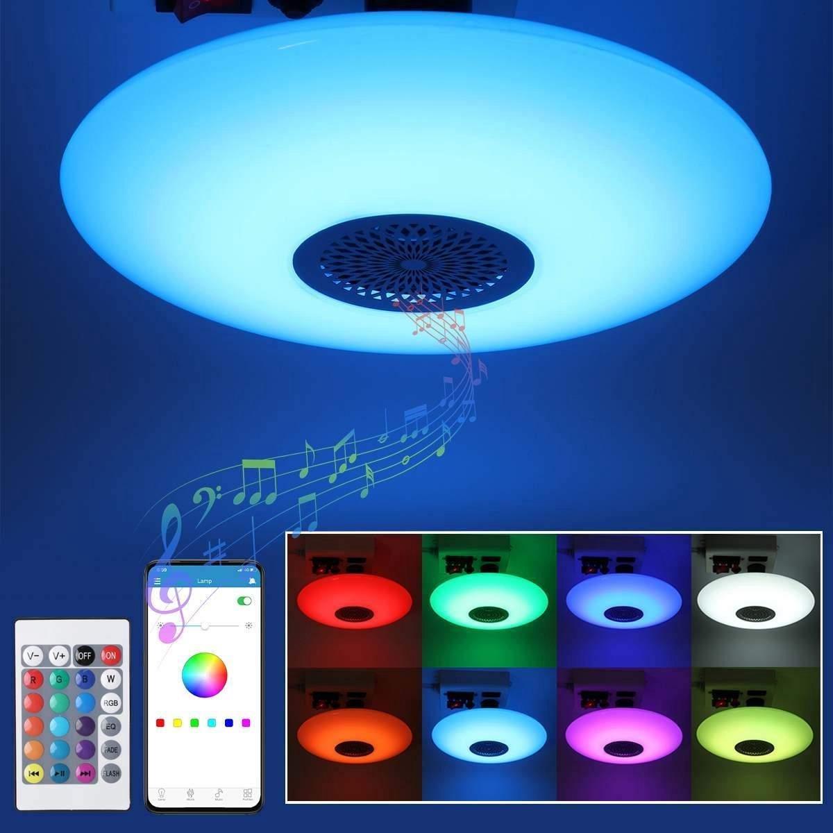 Slimme RGBW wifi LED lamp van Smart life   E27   Speaker  18W Met APP en Afstandsbediening!   Smart E27   Smart