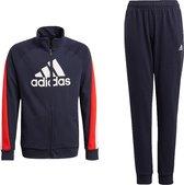 adidas Trainingspak - Maat 140  - Unisex - donkerblauw/rood/wit