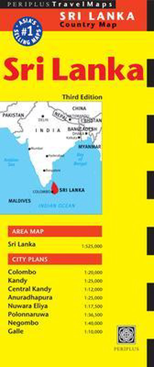 Sri Lanka Travel Map - Periplus Editors