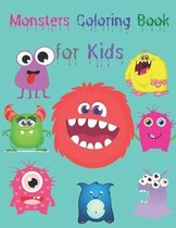 Monsters Coloring Book for Kids: Cute and Scary Monsters to Color - Funny Monsters Coloring Book for Kids Ages 4-8 - Coloring Book for Kids Ages 4-8 M