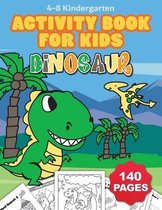 Jumbo Dinosaur Coloring and Activity Book for Kids Ages 4-8: Includes Counting, Matching Games, Mazes, Coloring Pages, Dot to Dot, Word Searches, Draw