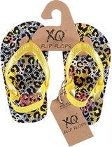 Xq Footwear Teenslippers Meisjes Geel/grijs Maat 23-24