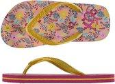 Xq Footwear Teenslippers Meisjes Roze/geel Maat 33-34