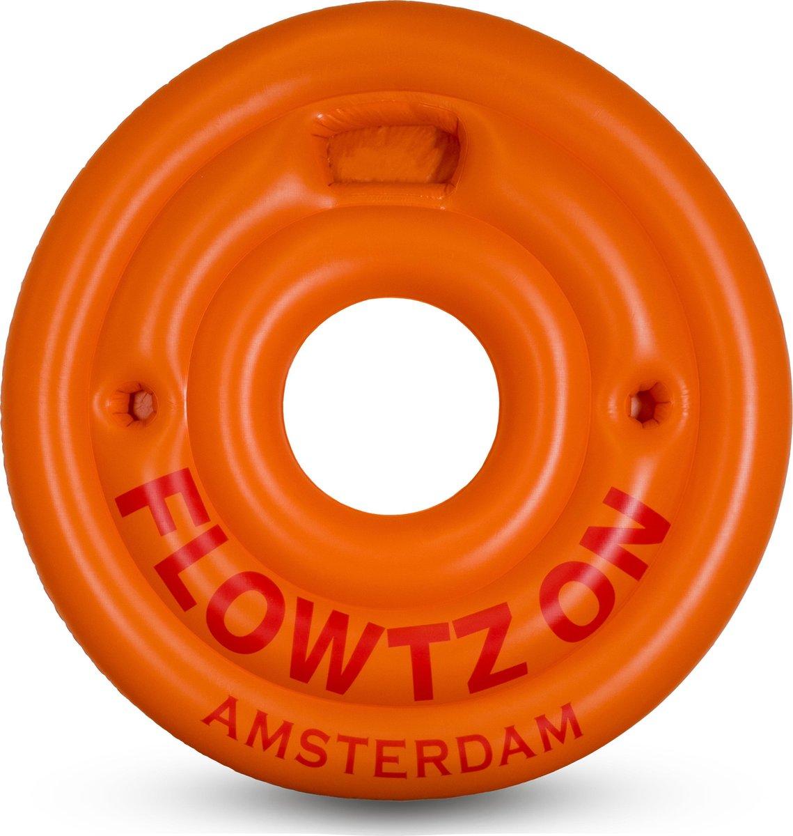 Flowtz On - Zwemband - Opblaasbaar - Oranje - 180 cm - Groot - Zomer - Strand - Zwembad