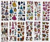 12x 3D Foam Stickervel - 130+ schattige stickers!  - Met o.a. Frozen!  - Mickey en Minnie Mouse - Disney Prinsessen - Sofia het Prinsesje - My Little Pony - Hello Kitty - Peppa Pig - Barbie - Stickerset - Kinderen - School - Prinses - TV - Knutselen