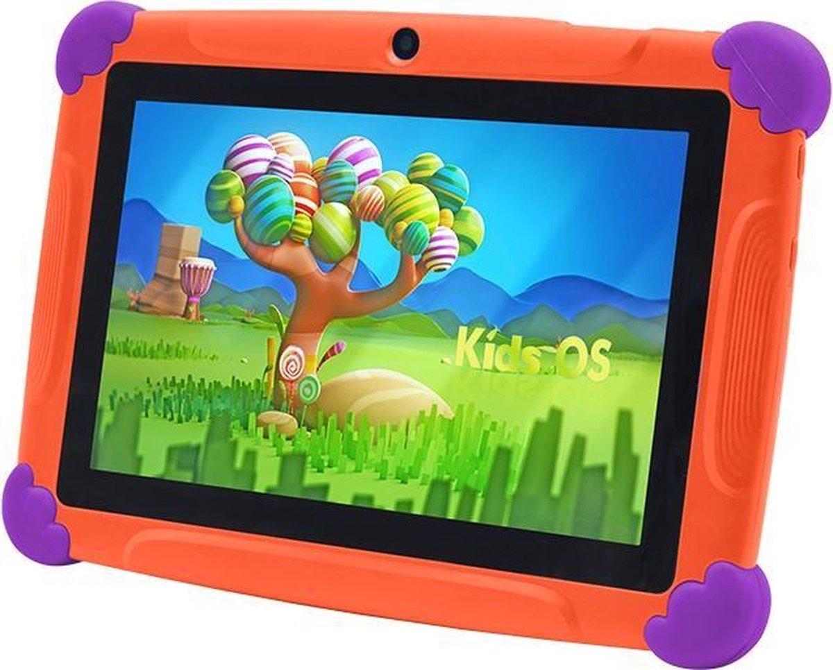 Kindertablet Pro oranje - Tablet 7 inch - 32 GB opslag - Kinder tablet - kindertablet vanaf 3 jaar - tablets kinderen - kids tablet - Scherp HD beeld - leerzame voor kinderen - Wifi Bluetooth - voor-achter camera - Play store - uitstekende batterij